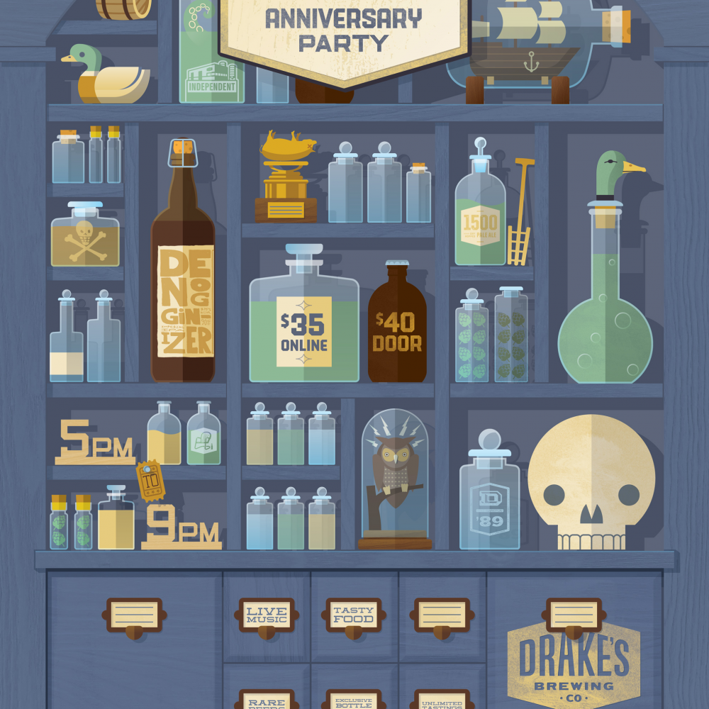 Drake's Brewing Anniversary Poster
