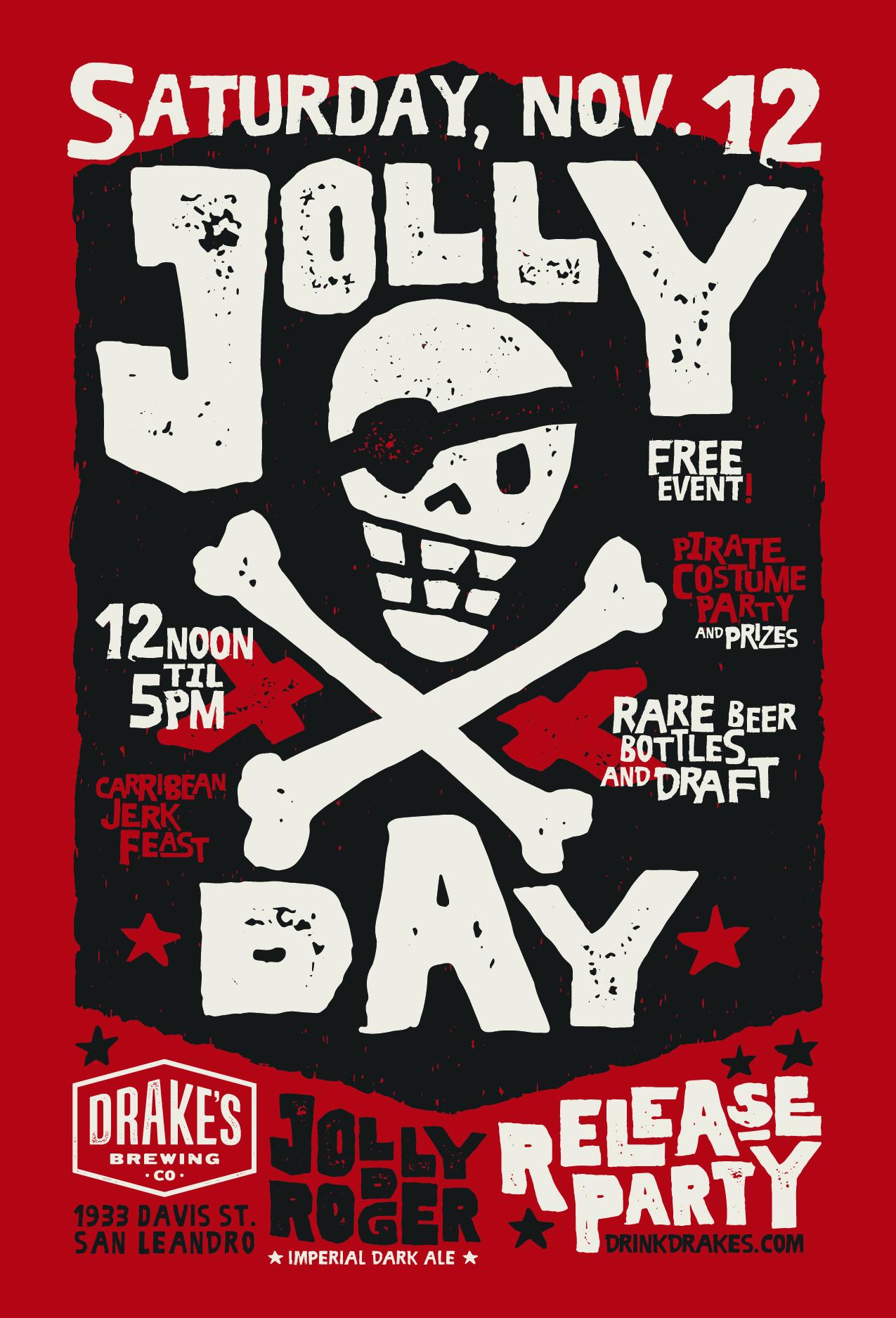 Jolly Rodger Day Poster Design - Designed By Monkeys