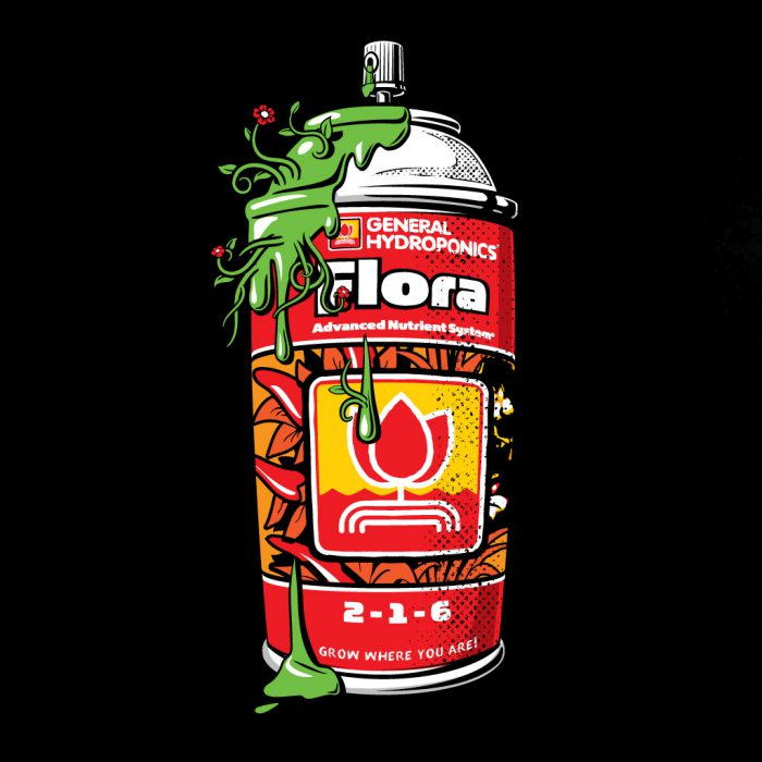 General Hydroponics Spray Can Illustration