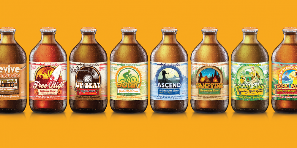 Revive Kombucha Bottle Packaging