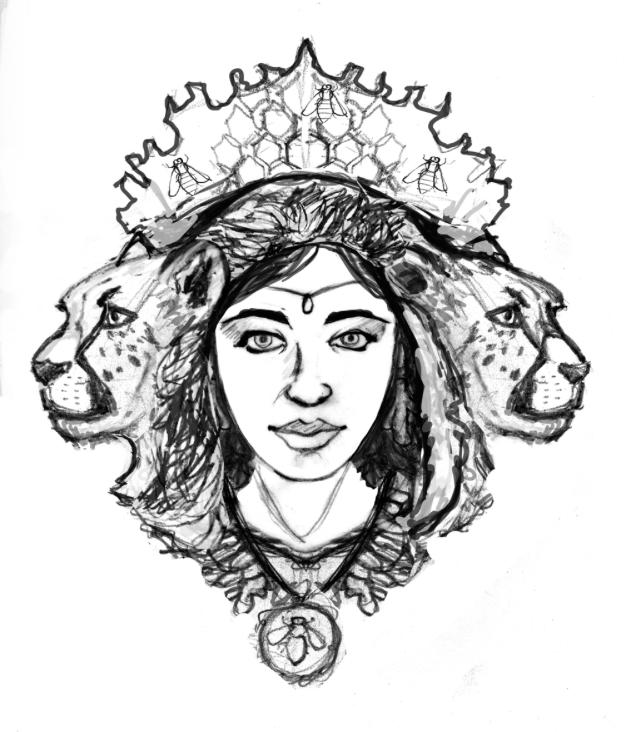 Sketches for Cheetah Von Chai Design - Designed By Monkeys