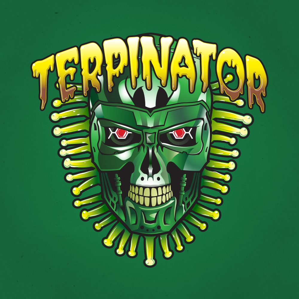 Terpinator Illustration with Hybrid Creative