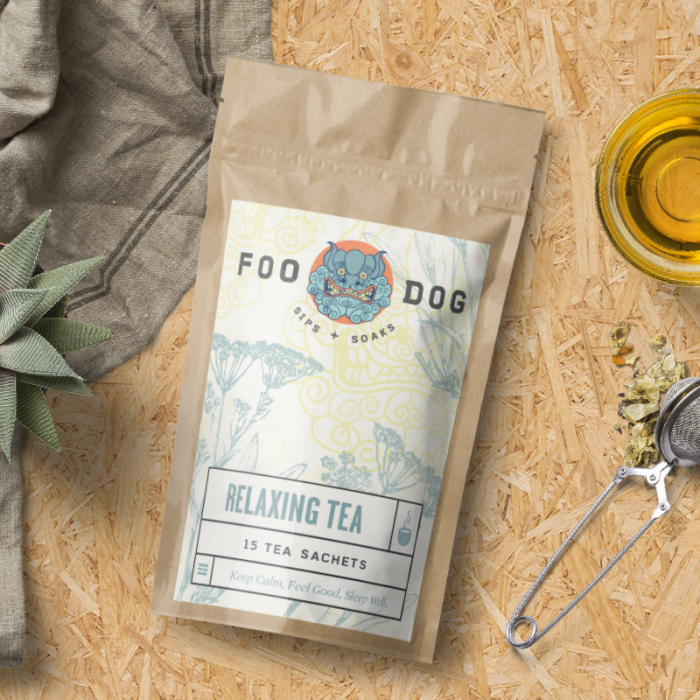 Foo Dog Sips + Soaks Packaging