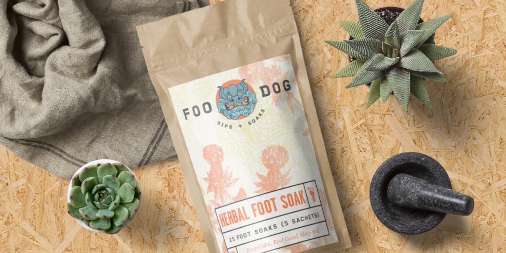 Foo Dog Sips + Soaks Packaging